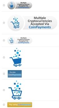 CoinPayments Button list