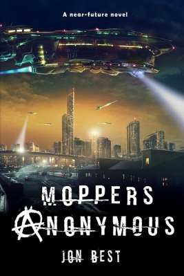 Moppers Anonymous book cover scifi dystopia near future novel